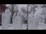 Ледяные скульптуры ангелов